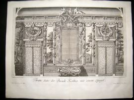 Paul Decker 1711 Folio Baroque Architectural Print. Wall & Grand Mirror 30
